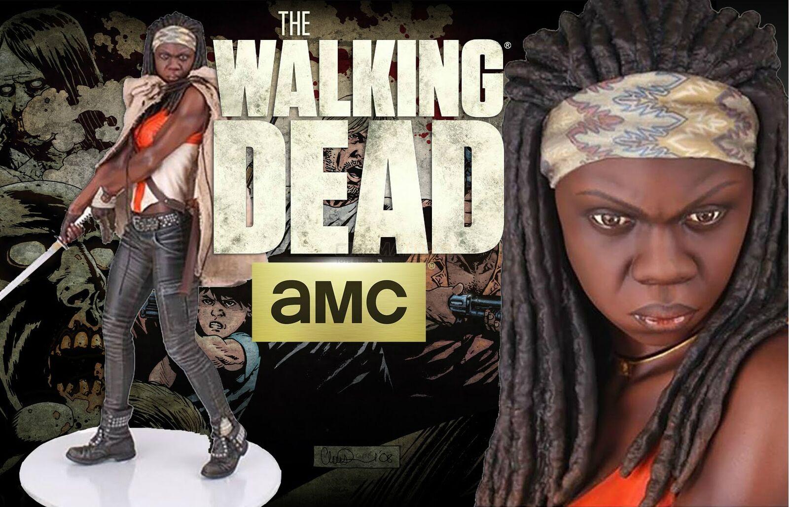 AMC Den vandrande döda statyn 1 4 Michonne Danai Guira 44''Gentle Giant
