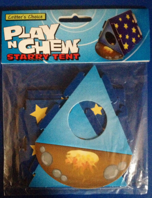 Play n Chew Cardboard Starry Tent Activity Toy Hamster Gerbil Mouse BNIP