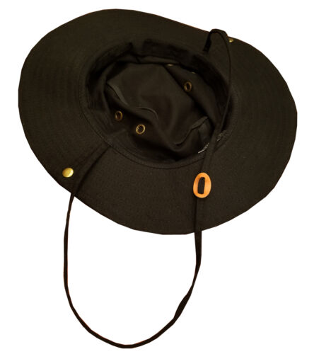 100/% Cotton Black Boonie Hat MAGA Embroidered Outdoor Wide Brim Boonie