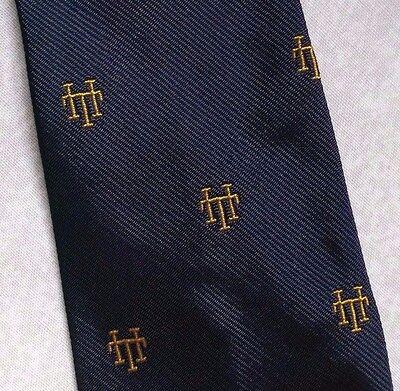 Dedito Vintage Cravatta Da Uomo Cravatta Crested Club Associazione Società Navy Gold-
