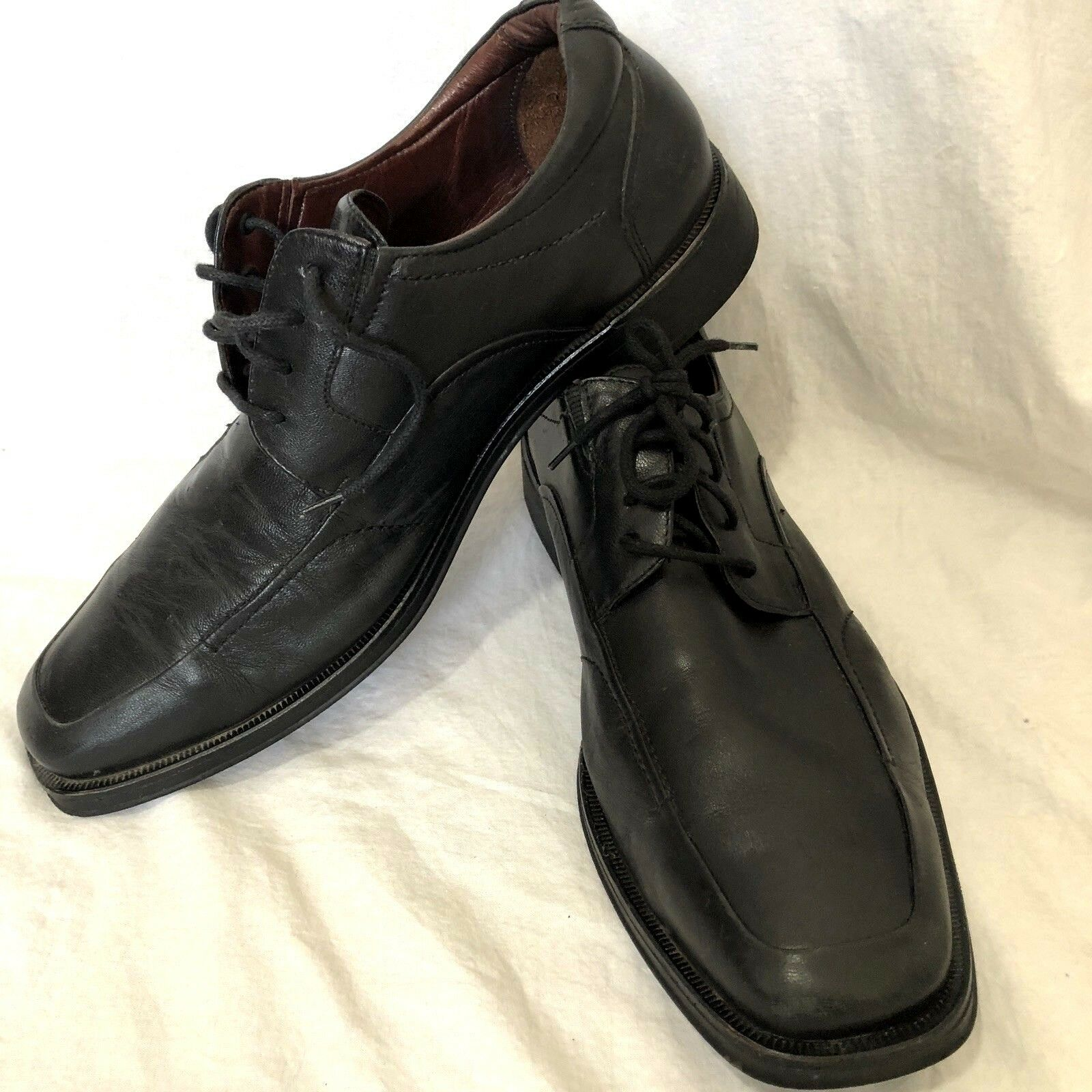 230192e2f8b Johnson Johnson Johnson   Murphy Men s Lace Up Oxfords Black Size 10 Made  in Brazil a3edbc ...