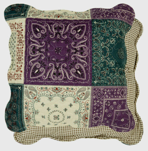 Clayre /& Fed Coussin housse taie d/'oreiller gequiltet 40 x 40 CM