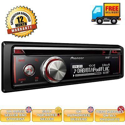 Pioneer Coche Unidad Principal Estéreo Radio Reproductor CD Bluetooth iPod iPhone USB AUX-IN