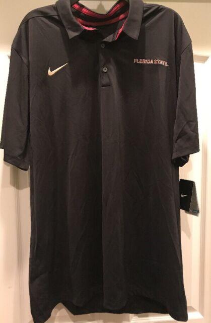 a8df70bd8 Nike FSU Florida State Seminoles DRI-FIT Polo Shirt 2XL XXL NWT Embroidered