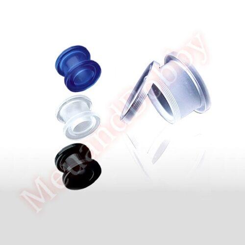 UV Acrylic Screw Fit Flesh Tunnel Ear Ring Body Jewellery CHOOSE SINGLE OR PAIR