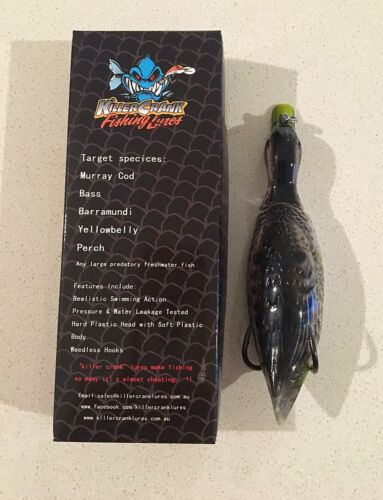 New Killer Crank 12cm Wild Weedless Surface Duck Murray Cod//Bass Fishing Lure