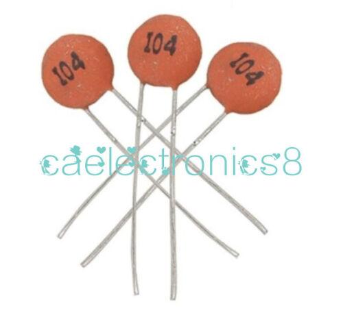100Pcs100nF 0.1uF 104pF 50V Ceramic Disc Capacitors DIP CA NEW