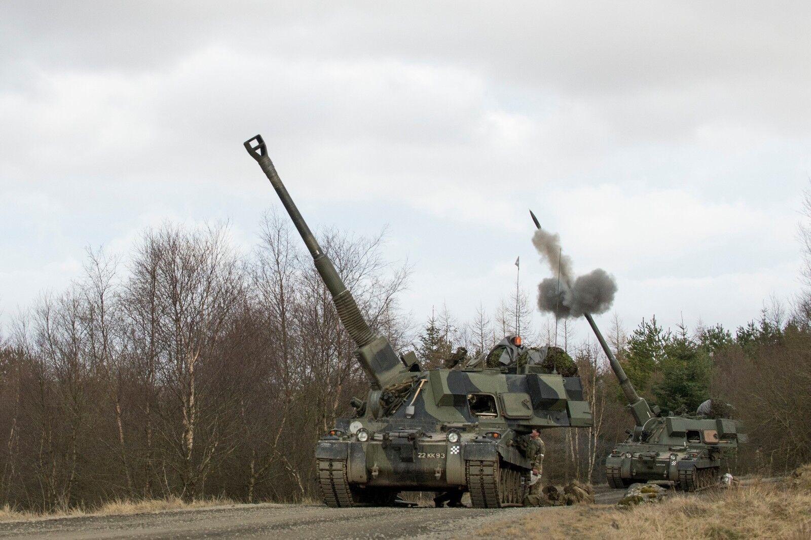 BRITISH ARMY AS90 SELF PROPELLED GUN   Photo Print