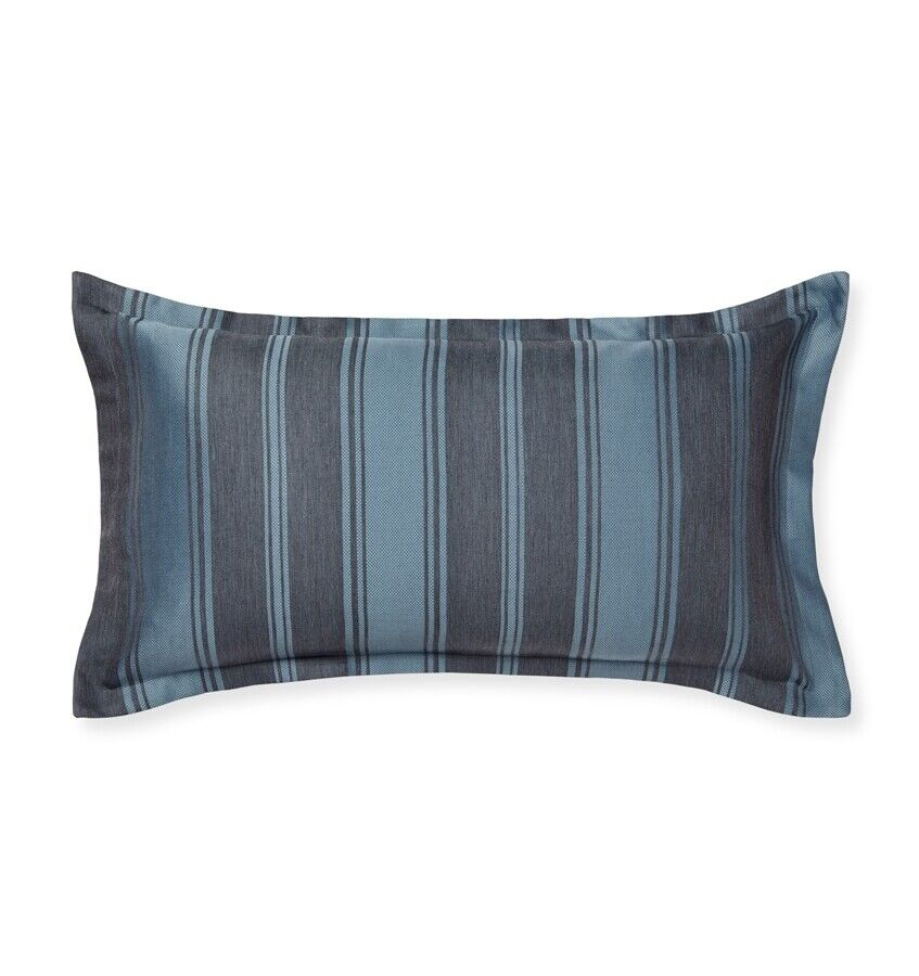 Sferra ANDRIA Decorative Pillow 12 x 22  COTTON WOOL ASH (Blau grau) ITALY- NEW