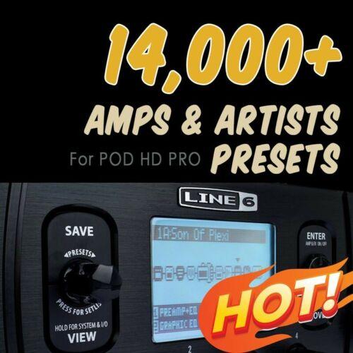 presets ✪ for Line 6 POD HD PRO ✪ patches bundle Collection✪ ✪ 14,000