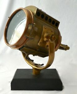 Antique-BRONZE-COPPER-Naval-66-Neverout-SEARCH-LIGHT-by-ROSE-MFG-PA-1905