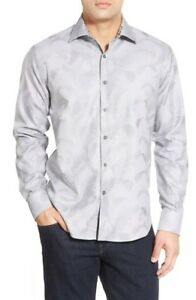 Bugatchi-Shaped-Fit-Long-Sleeve-Print-Sport-Shirt-NWT-M