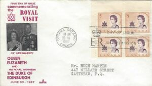 1967-471-Royal-Visit-UL-CR-BLK-FDC-with-Capital-cachet
