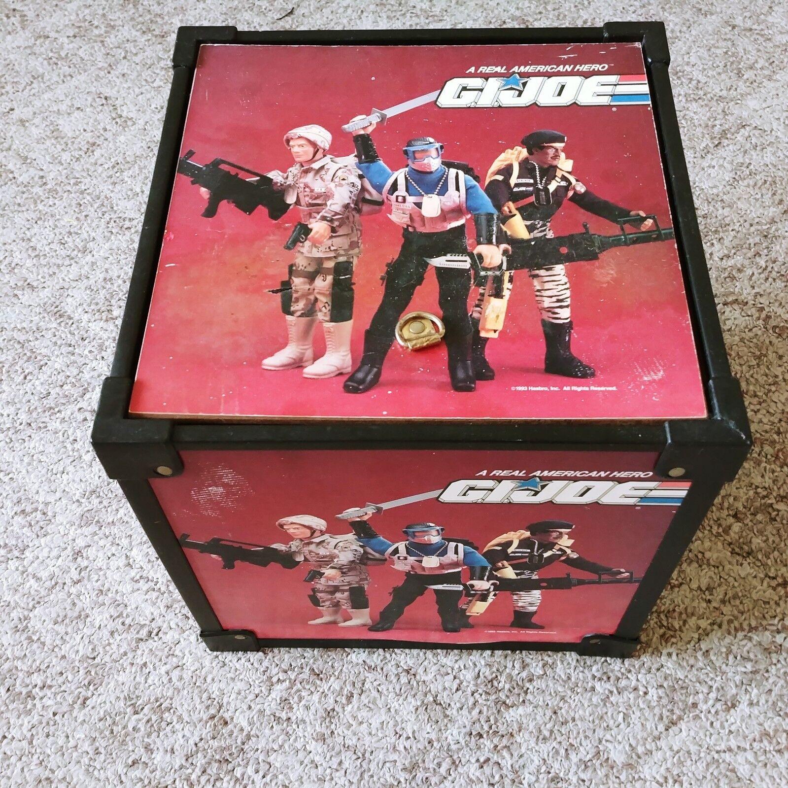 ARAH 1993 GI Joe Wooden Toy Box RARE