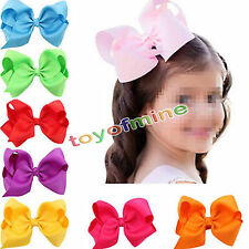 CHIC 10PCS Baby Big Hair Bows Boutique Toddler Clips grosgrain Ribbon Headwear