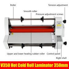 V350 Laminating Machine Hot Cold Roll Digital Laminator 35cm High Quality Us