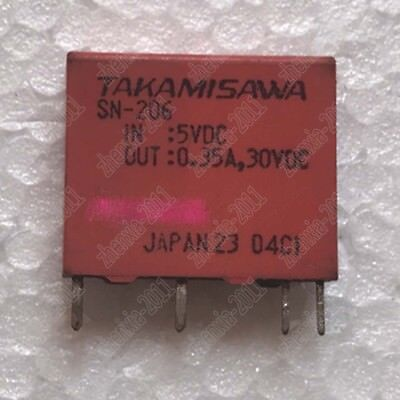 5PCS USED  Takanozawa SN-205-5VDC Relay