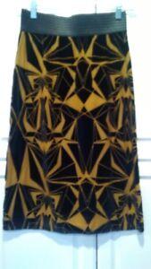 taglia Ocher Black L Pois Pattern Abstract Petit Skirt xEZXqwU7