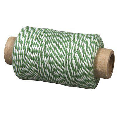 Garn Effektgarn Bindegarn grün/weiss Durchmesser 1mm Länge 35m Rayher 57-517-420