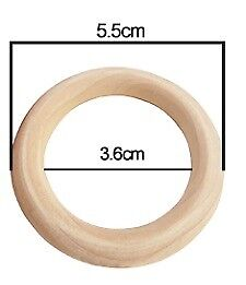 Hochwertige Holzringe 5,5 cm Natur Farblos Buchenholz Schmuck Deko Baby