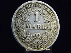 - M.f.b - Deutsches Kaiser Reich Wilhelm I 1 Mark 1880 G Karlsruhe - Ss+/++ 142