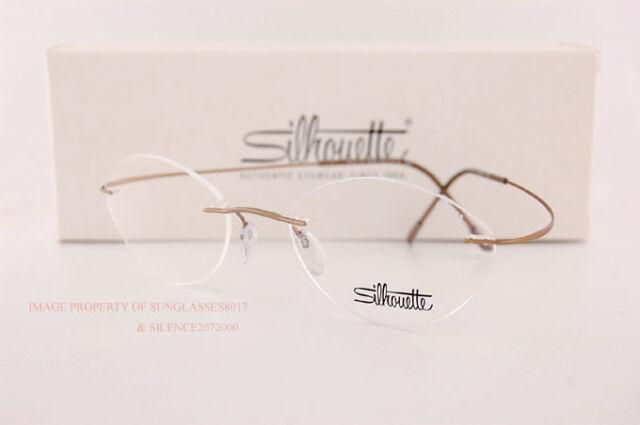 1aa3f7302e New Silhouette Eyeglass Frames TMA Must Collection 5515 CV 8540 Matte Gold  Sz 50