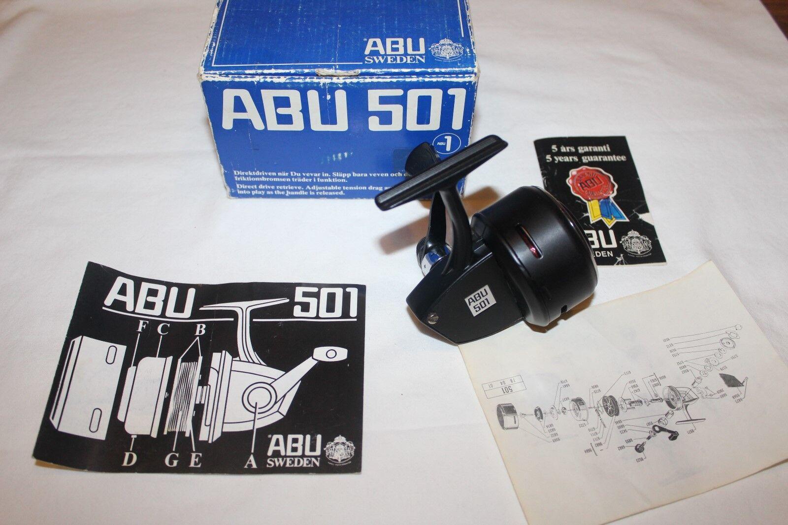 Abu 501 in scatola originale e docuuominitifatto IN SWEDENnr978