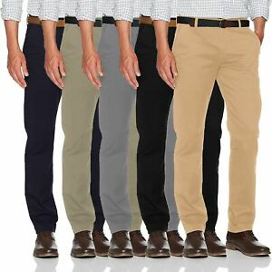 New-Mens-Ex-Store-Chino-Trousers-Regular-Fit-Straight-Cotton-Casual-Work-Pants