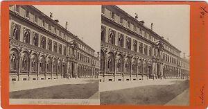 Italia Milan Ospedale Maggiore Foto Stereo Vintage Albumina Ca 1875