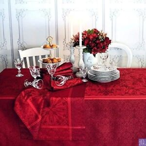 GARNIER-THIEBAUT-CASSANDRE-FRENCH-JACQUARD-COTTON-STAIN-RESISTANT-TABLECLOTH