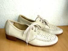 Deichmann Sommer Mokassin Schuhe Leder beige Gr. 38