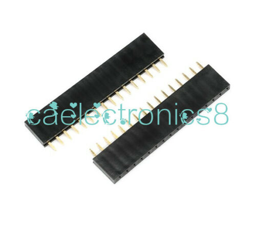 10PCS 16 Pin Single Row Female Straight Header Strip 2.54mm Pitch
