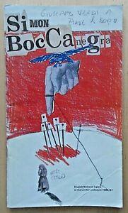 Simon Boccanegra programme English National Opera (ENO) 1987 Jonathan Summers