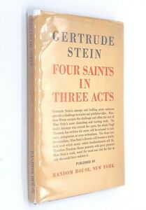 Four-Saints-in-Three-Acts-by-GERTRUDE-STEIN-1934-1st-1st-Dust-Jacket