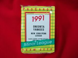 1991-ONEONTA-YANKEES-J-POSADA-MINOR-LEAGUE-TEAM-SET-PROCARDS-FACTORY-SEALED