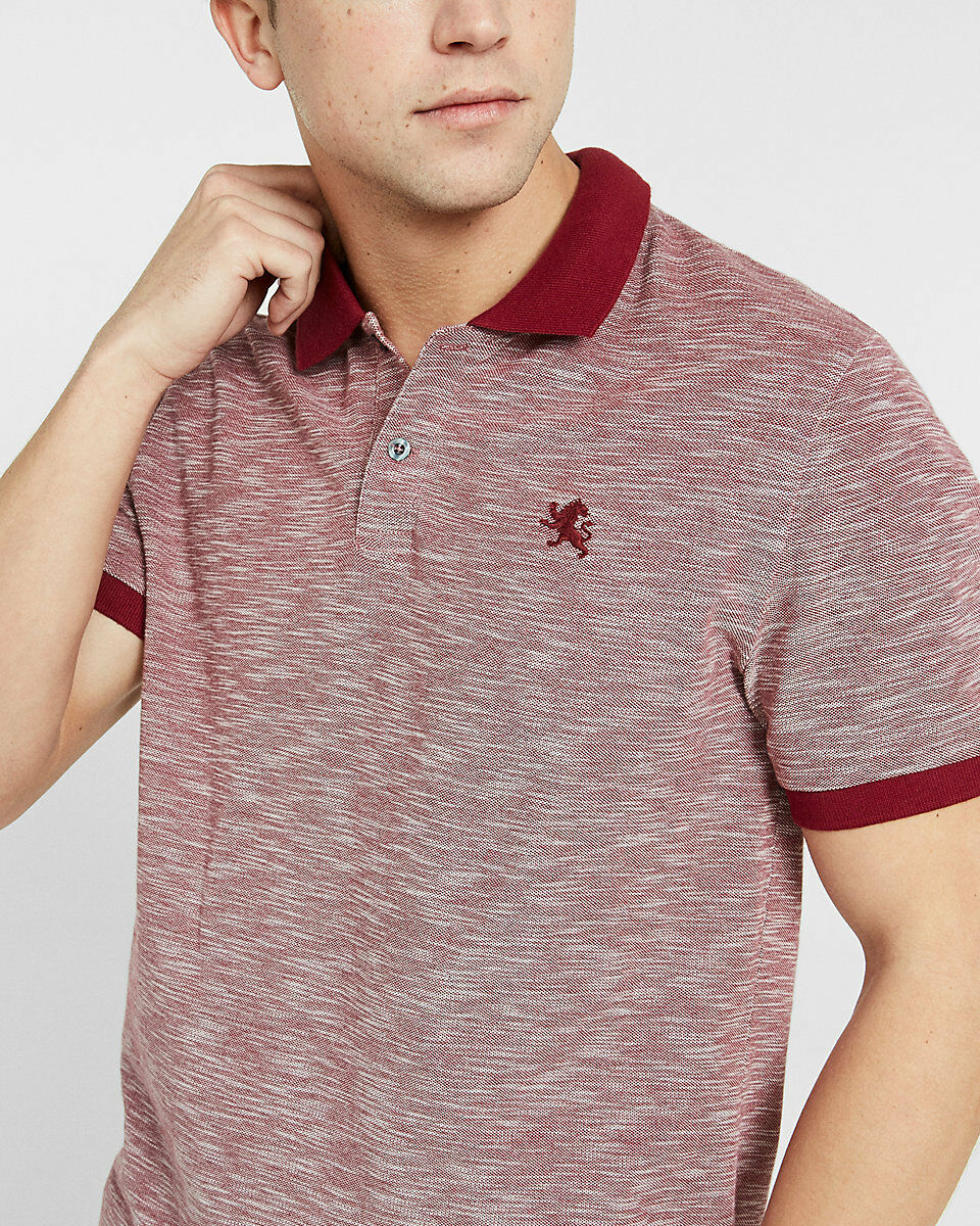 4f6bfaf429c NWT MEN Textured Lion Pique Polo VERY BERRY SIZE L Small EXPRESS ...