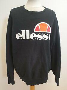 GG895-da-Uomo-Ellesse-nero-cotone-L-Sleeve-Crew-maglione-a-girocollo-Xl-UK-EU-54