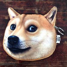 Cute Girls'  Shiba Inu Akitas Huskies Doge Purse Small Coin Purse Bag For Change