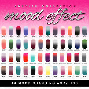 glam glits mood effect acrylic new updated 48 colors