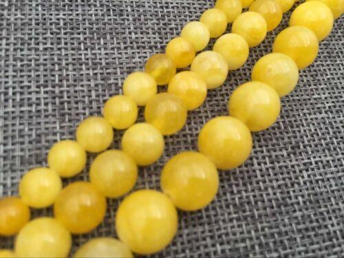 """6mm 8mm 10MM natural brasileño topacio redonda suelta piedras preciosas del grano 15/"""" AAA"""