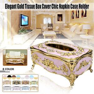 Elegant-Gold-Silver-Tissue-Paper-Napkin-Box-Storage-Container-Cover-Case-Holder