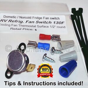 Details about Dometic 3850306063 RV Refrigerator Thermal Switch repl   Exhaust Fan + Instruct