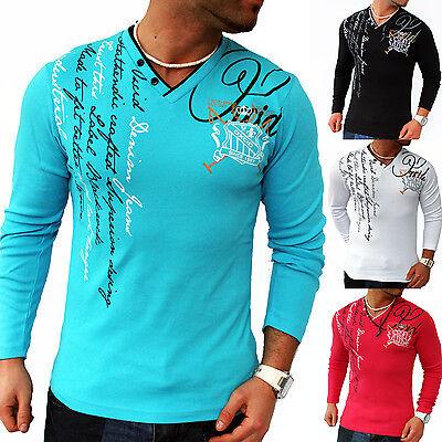 ZAHIDA Herren Sweatshirt Longsleeve Langarm Shirt Hoodie DESIGN TRENDY T-SHIRT