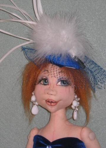 "PAPER PATTERN /""KRISTA/"" BY SHARON MITCHELL *NEW* CLOTH ART DOLL"