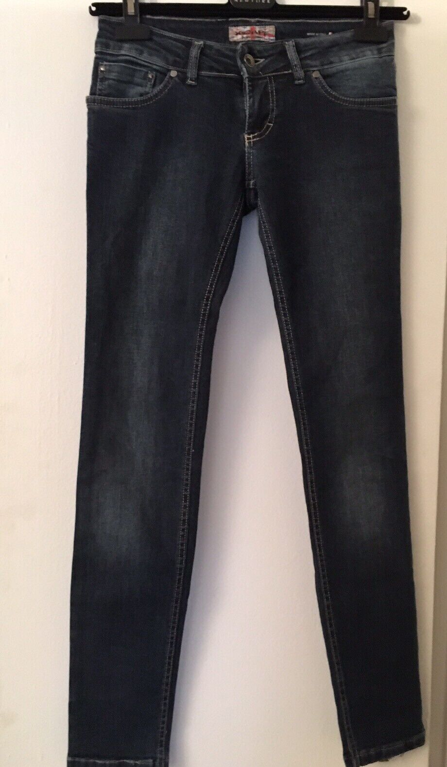 """Xcape Italian Brand bluee Jeans Skinny Stretch Sz 28 Inseam 30"""""""