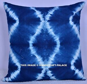 Image Is Loading Indigo Blue Tie Dye Outdoor Indoor Cushion Cover