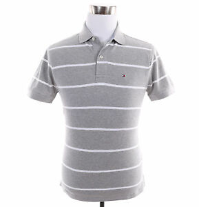 Tommy-Hilfiger-Men-Short-Sleeve-Stripe-Custom-Fit-Pique-Polo-Shirt-Free-0-Ship