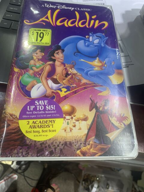 Walt Disney Aladdin 1993 Black Diamond The Classics Vhs 1662 For Sale Online Ebay
