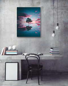1PC-16X20-034-Water-reflection-Art-Painting-on-Canvas-NO-frame-Painted-Photo-1L572