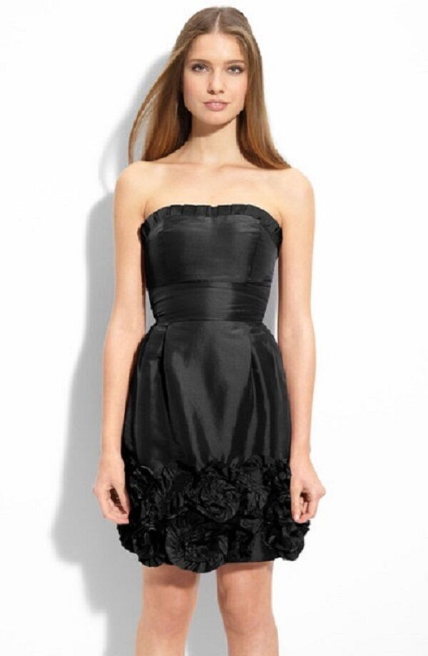 NWT  Max And Cleo Strapless schwarz Rosatte Prom Cocktail Party Dress SZ 10